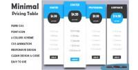 Pricing minimal table responsive