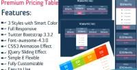 Pricing premium table