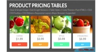 Pricing product tables