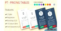 Pricing pt 3.2.0 bootstrap tables