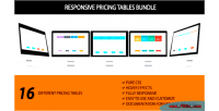 Pricing responsive tables bundle