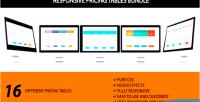 Pricing responsive tables bundle