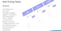 Pricing web tables responsive