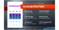 Responsive bootstrap table price css3