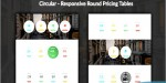 Responsive circular tables pricing round