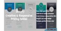 Responsive creative pricing tables