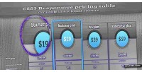 Responsive css3 pricing table