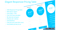 Responsive elegant pricing tables
