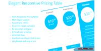 Responsive elegant pricing tables