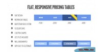 Responsive flat pricing tables