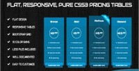 Responsive flat pure tables pricing css3