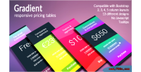 Responsive gradient pricing tables