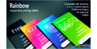 Responsive rainbow pricing tables