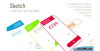 Responsive sketch pricing tables