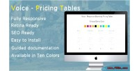 Responsive voice tables pricing bootstrap