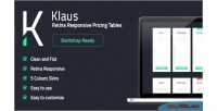 Retina klaus tables pricing responsive