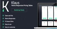 Retina klaus tables pricing responsive