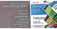 Vertical css3 tables pricing web