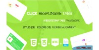 A click tabs bootstrap responsive