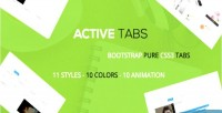 Active a responsive bootstrap tabs css3 pure