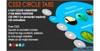Css circular tabs