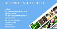 Css3 filtronio portfolio