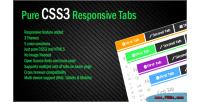 Css3 pure responsive tab