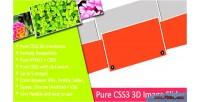 Css3 pure slider image 3d