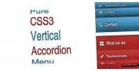 Css3 pure menu accordion vertical