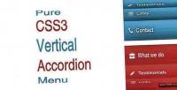 Css3 pure menu accordion vertical