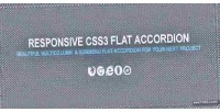 Flat css3 accordion