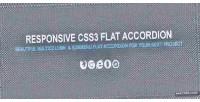 Flat css3 accordion