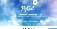 Flyout fixed & sticky positions banner website