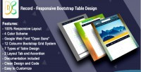 Responsive record design table bootstrap