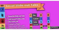 Slide social menus tab out