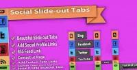 Slide social menus tab out