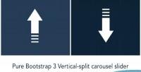 Split vertical carousel