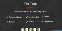 Tabs the responsive tabs css3 html5