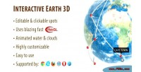 Earth interactive globe 3d