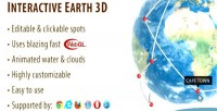 Earth interactive globe 3d