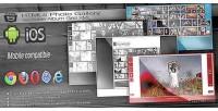 Html5 photo gallery resizable xml grid album