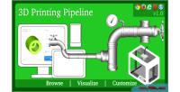 Printing 3d pipeline