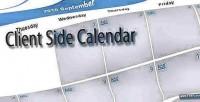 Side client calendar