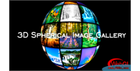 Spherical 3d image gallery