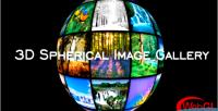 Spherical 3d image gallery