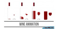 Animation wine html5 canvas