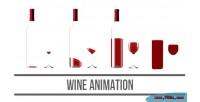 Animation wine html5 canvas