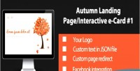 Autumn interactive landing page 1 card e autumn