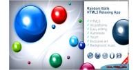 Balls random app relaxing html5