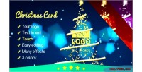 Card christmas 2 lights elegant